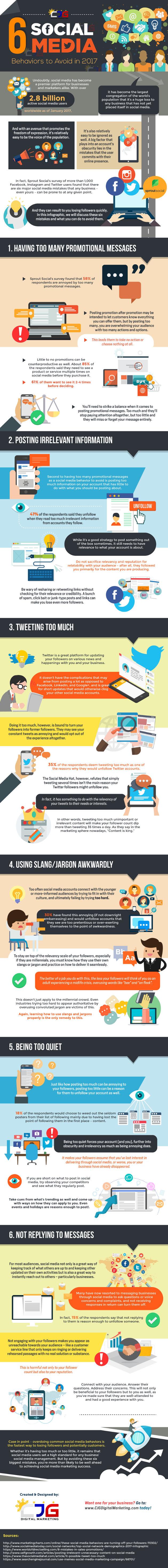 Social Media Behaviors Your Brand Needs to Avoid in 2017 [Infographic]